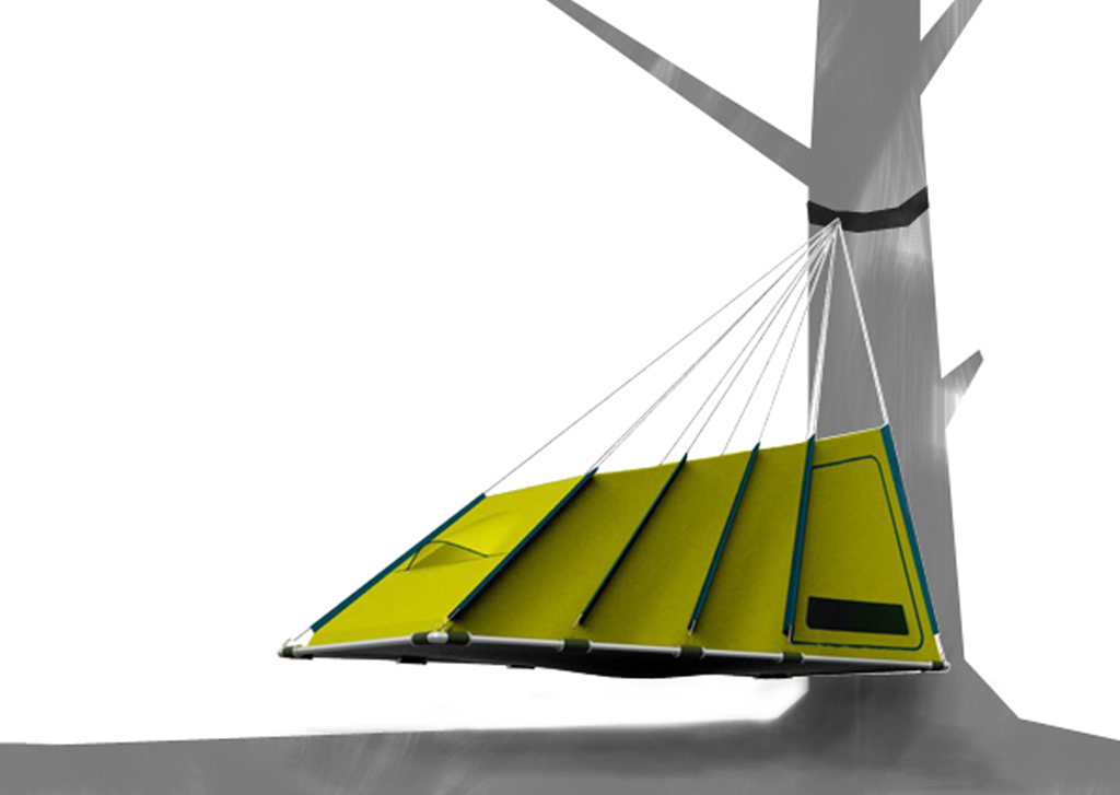 Hanging Tent 2. u201c  sc 1 st  GearJunkie & Prototypes - u0027Hangingu0027 Tent Rolled-Foam Hammock
