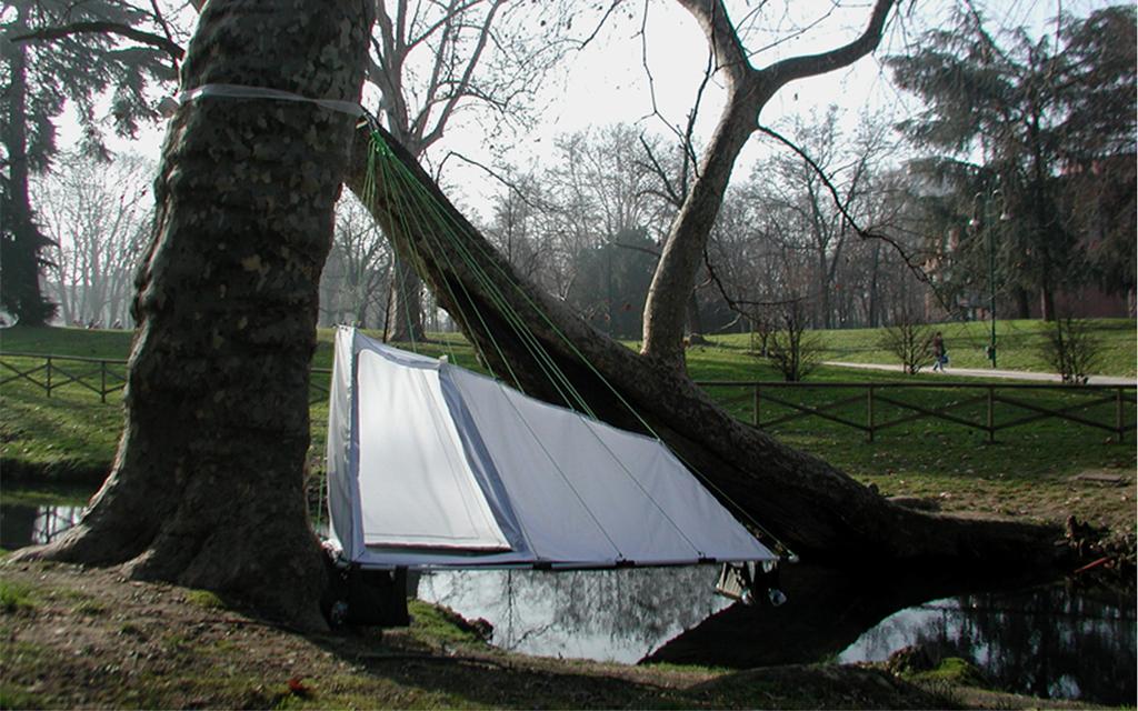 Hanging Tent photo & Prototypes - u0027Hangingu0027 Tent Rolled-Foam Hammock