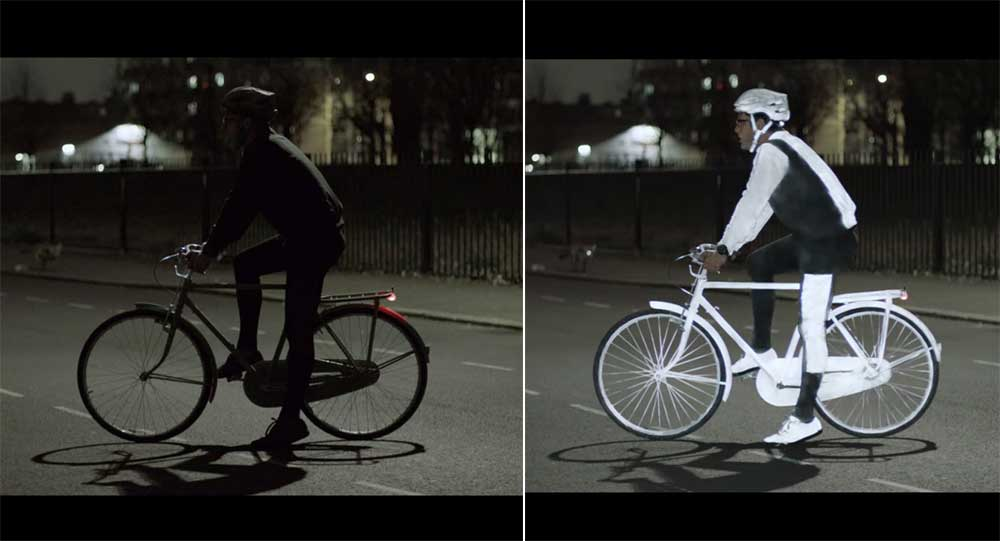 Spray On: Reflective Paint For Bikers At Night