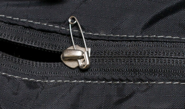 Safety Pin Zipper X on Zipper Pins For Repairs