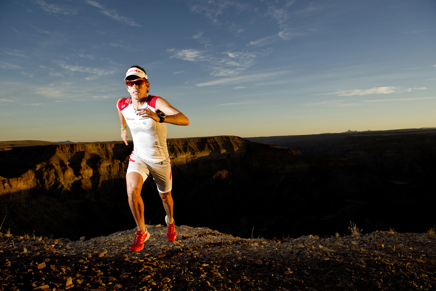 Ryan Sandes trains for his Fish River Canyon record attempt in Namibia on  July 27th b76cae067d