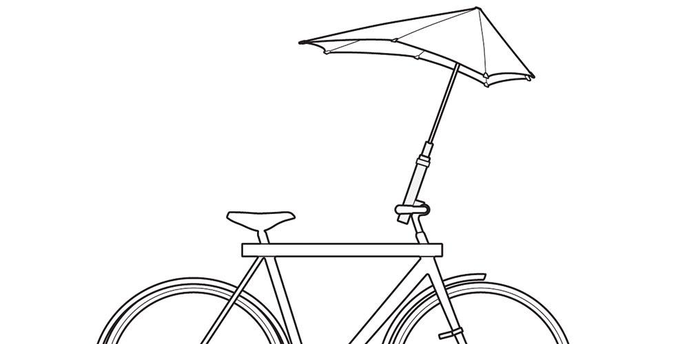 Bike Umbrella Gets Major Media Attention