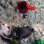 climber falls