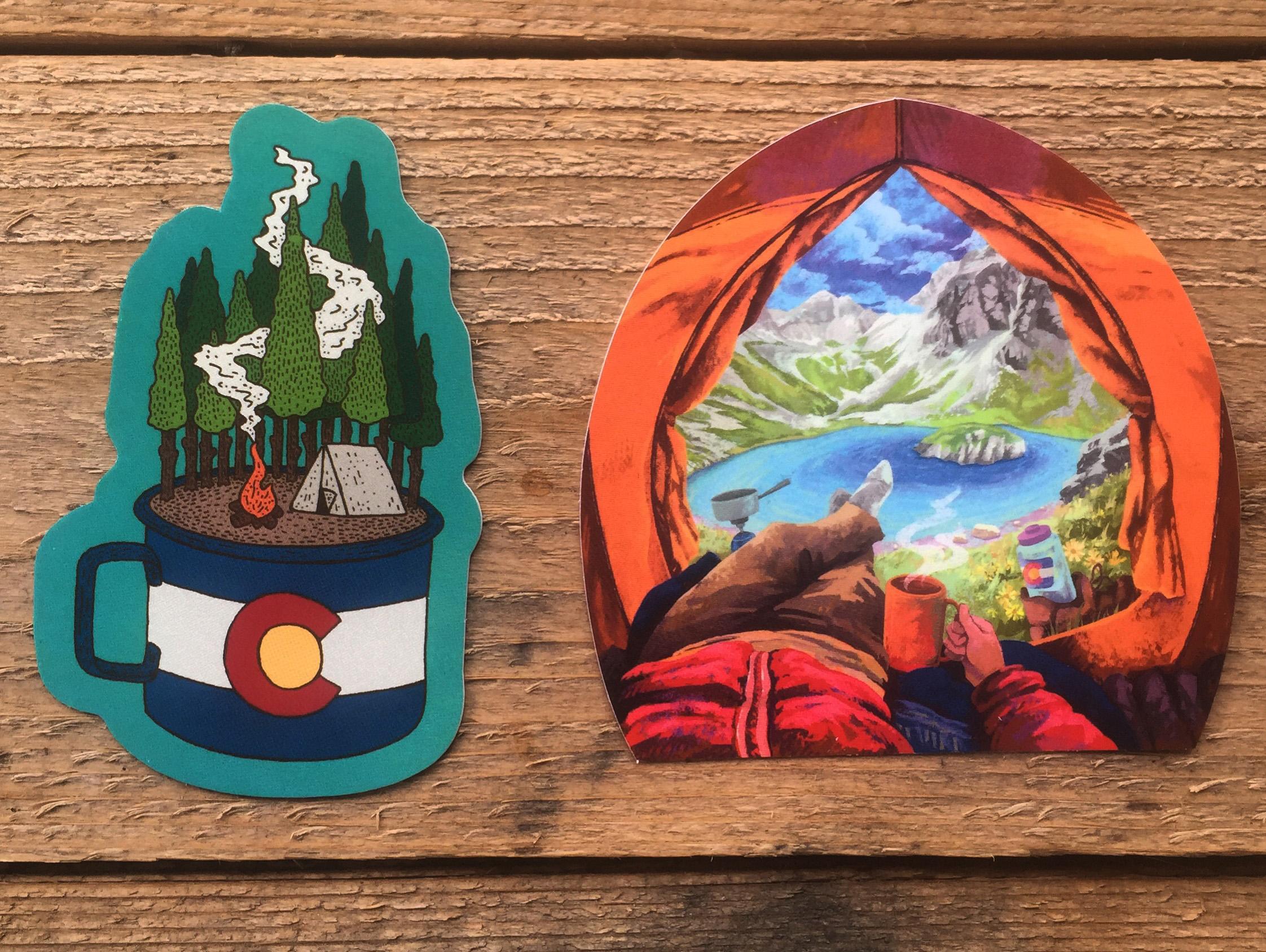 Colorado C& Cup and Tent View & Explore Colorado In Stickers