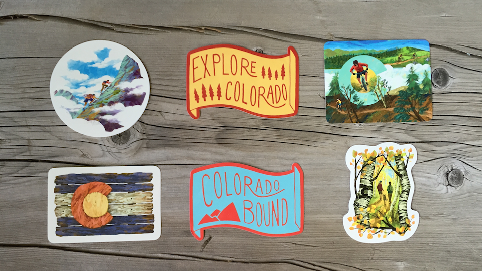 Sticker pack colorado adventure sticker 6 pack on amazon expanded