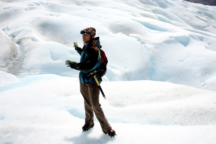 A guide at the Perito Moreno glacier, Argentina; photo by Rafael Peñaloza