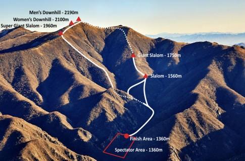 National Alpine Ski Centre, Yanqing Cluster, Alpine skiing. Photo shot between Jan. 20-23.