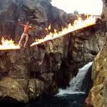 flaming slackline