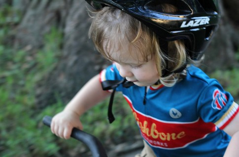 kid bike action shot