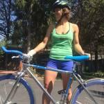 fixie cycling woman