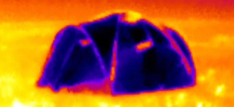 infrared-tent-image & Shiny u0027Metalu0027 Fabric Tent Reflects Heat
