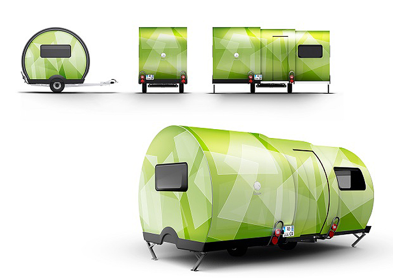 Camper Telescopes Sideways For Three Times The Space