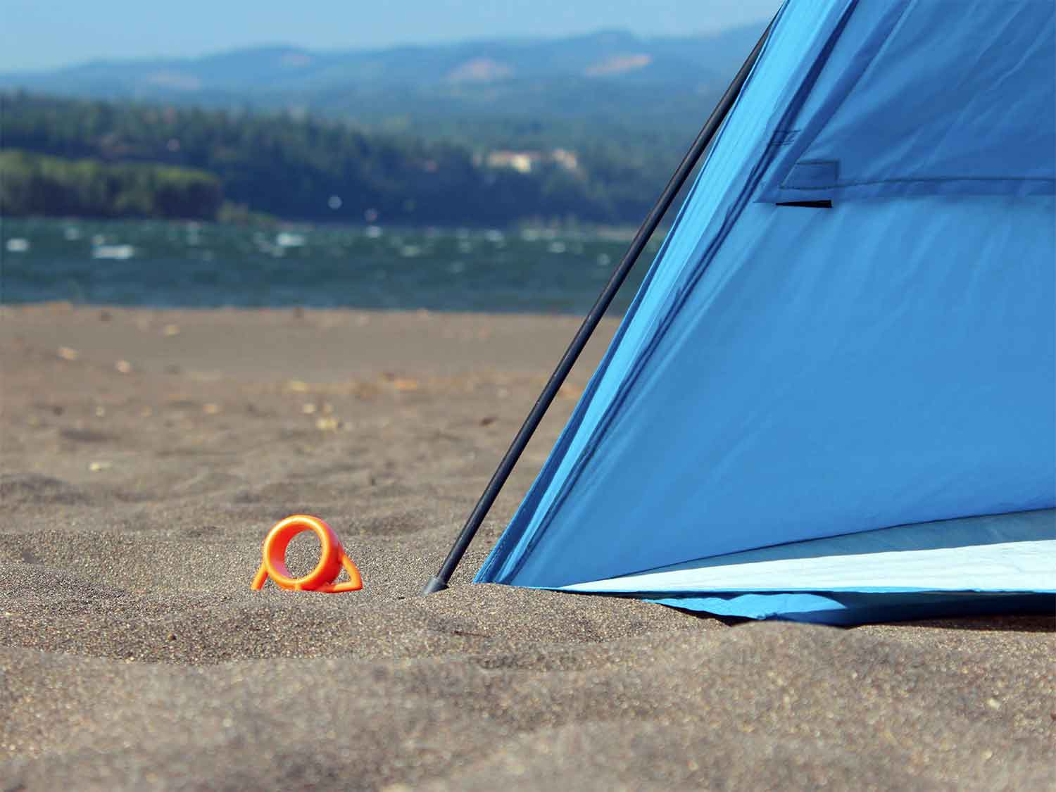 My tent anchored with short aluminum stakes bucked and caved in its front wall scooping wind like a sail. & The u0027Orange Screwu0027 Is Ultimate Tent Stake