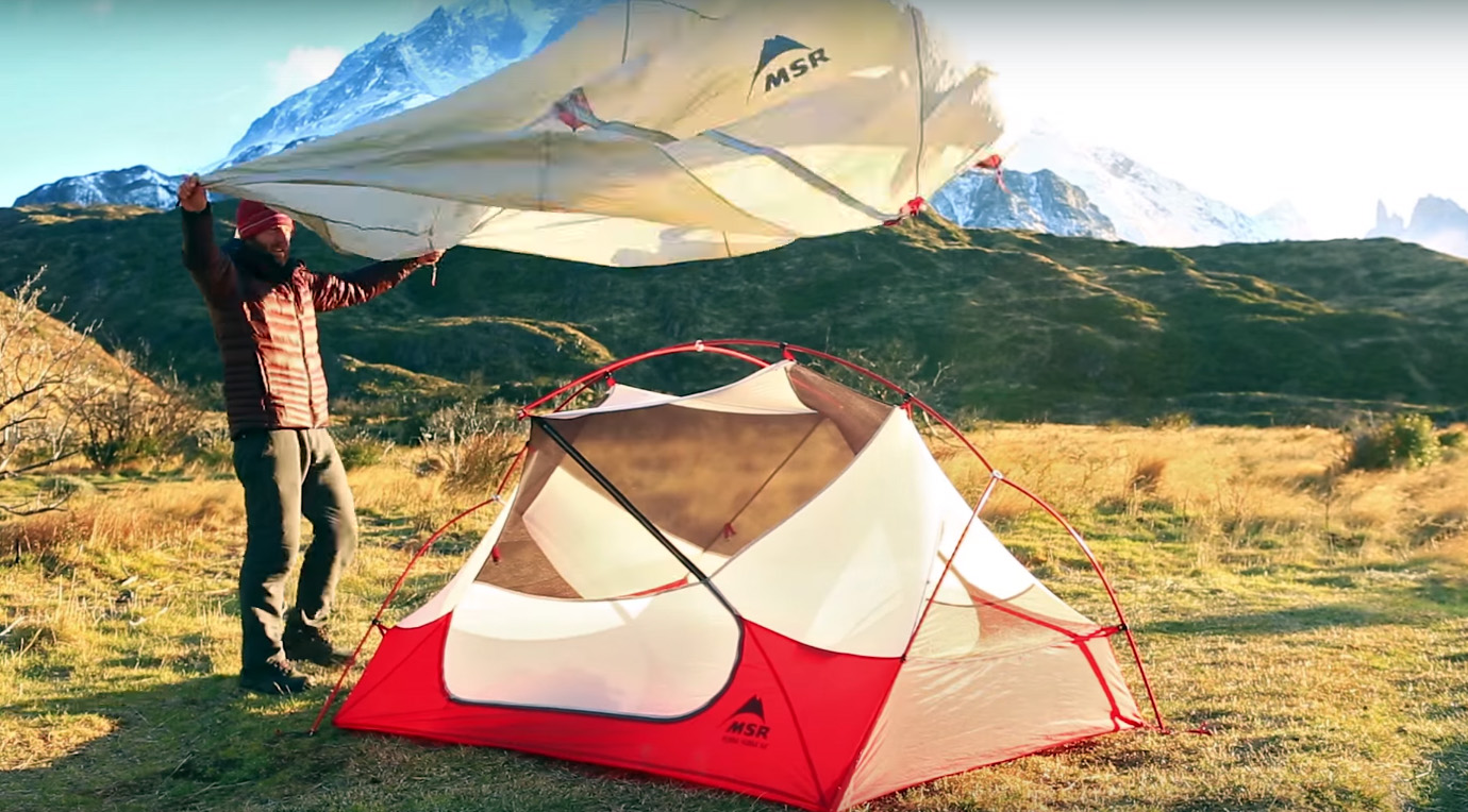 tent wind & How To: Set Up Tent In Howling Wind