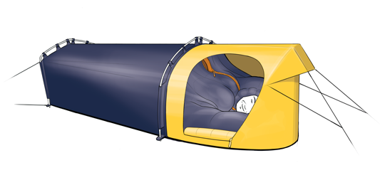 All In One Sleeping Pod Is Winter Camping Upgrade