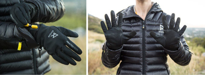 Ravean Gloves. The jackets are designed for a wide comfort range of -4ºF to  55ºF. The impressive range is made possible by the electric heating — turn  it ...