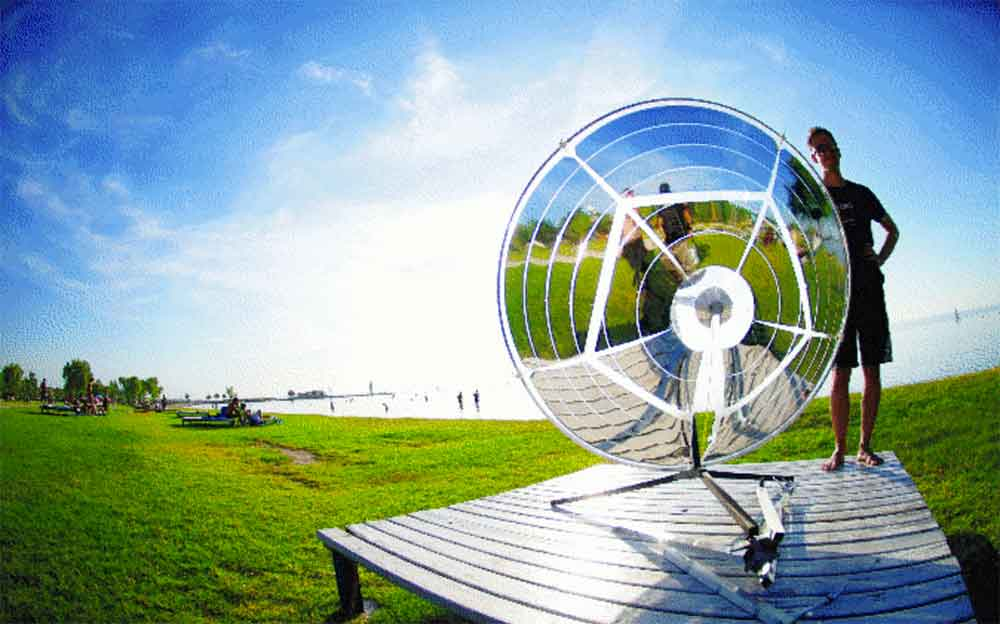 Cook With Sun Photongrill Reflects Solar Rays As Fuel